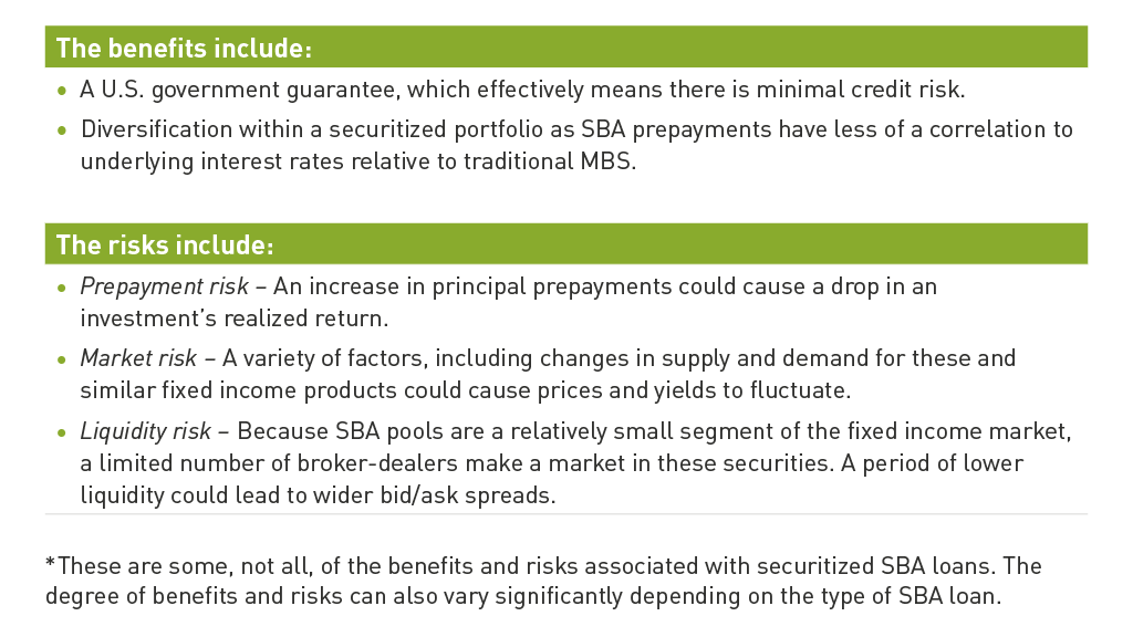 risks and benefits of SBA